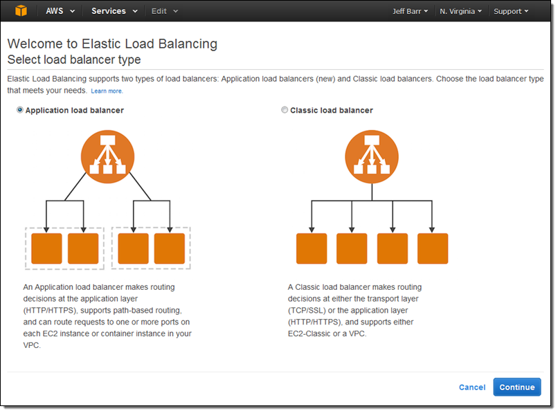 New – AWS Application Load Balancer